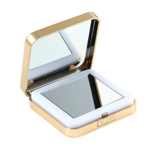 LED Lighted Travel Makeup Mirror,Small Handheld Mirror