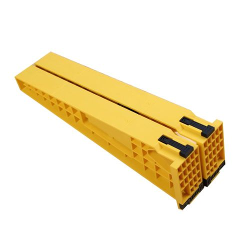 2Pcs Drawer Track Install Jig Slide Auxiliary Positioning Holder Yellow