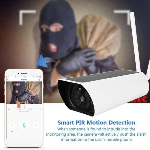 200W 1080P HD Wifi Outdoor Solar Security IP Camera Wireless Energe-saving Night Vision Camera
