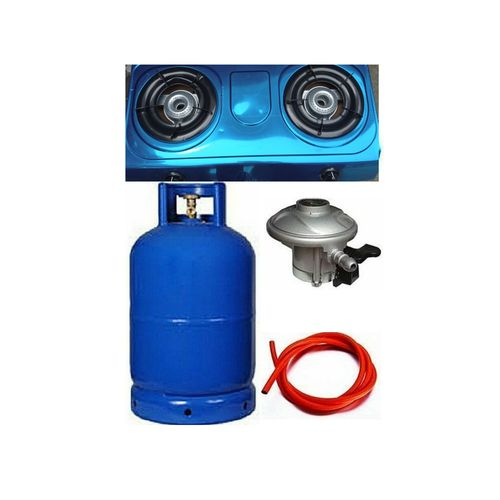 Quality Standard 12.5kg Gas Cylinder, Top Gas Cooker And Yards Hose With Regulator