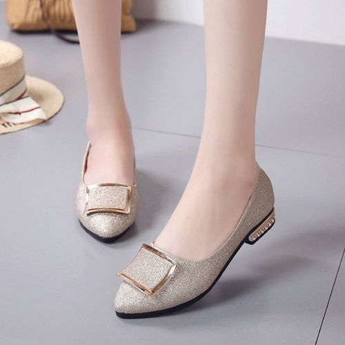 Womens'sFemme Classy Ballerina Shoes - Gold