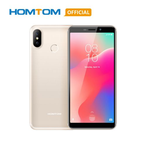 C1 Mobile Phone 16GB ROM 5.5 Inch 13MP Camera Fingerprint 18:9 Display Android 8.1 MT6580A Unlock Smartphone - GOLD