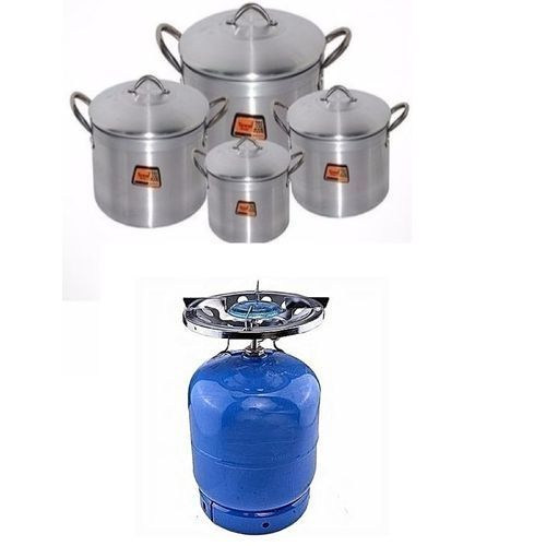 3kg Cooking Gas+Burner+4-Sets Cooking Pots
