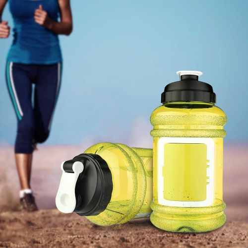 2.2L Big BPA Free Water Drinking Bottle Gym Training Fitness Cup + Card Storage