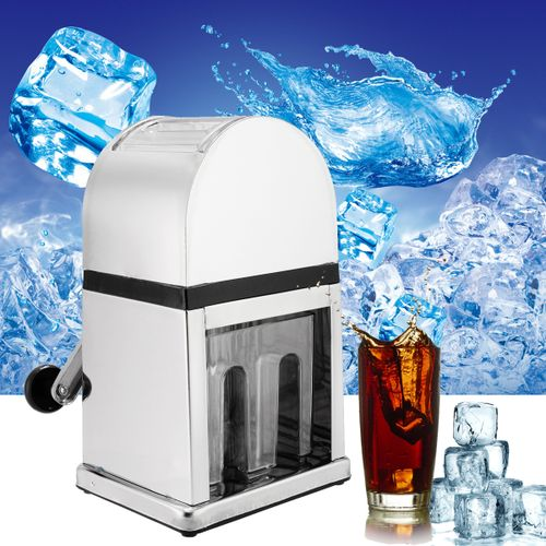Home Bar Manual Ice Shaver Crusher Stainless Steel?Snow Cone Machine Maker