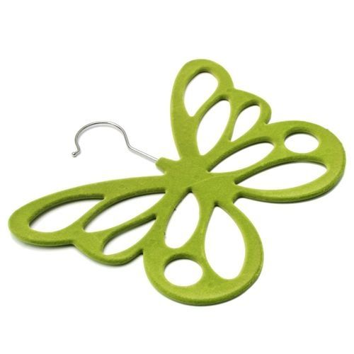 Butterfly Scarf Shawl Hanger Necktie Belt Closet Storage Holder Hook Organizer Green