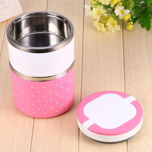 2 Layer Stainless Steel Insulation Thermo Thermal Lunch Box Food Container Hot