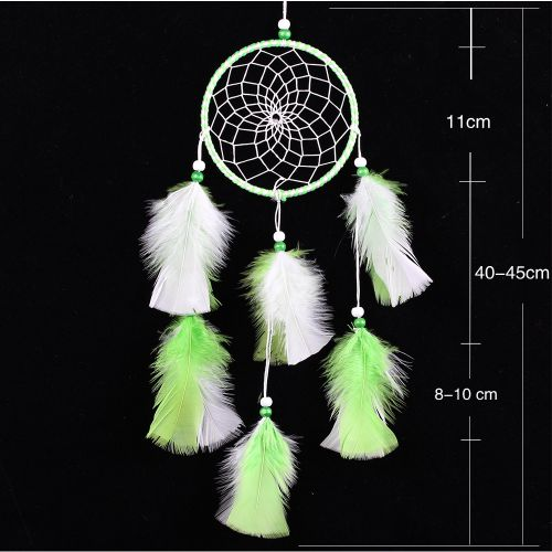 Handmade Dream Catcher Home Car Hanging Ornament Circular Net Ring With Feathers Pendant