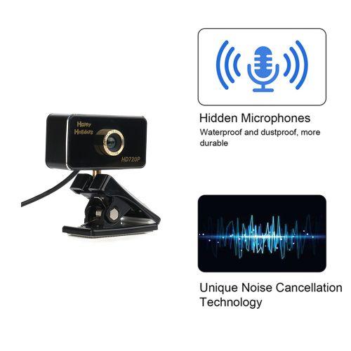 USB HD Webcam 720P Digital Video Web Camera With Built-in Sound Digital LED