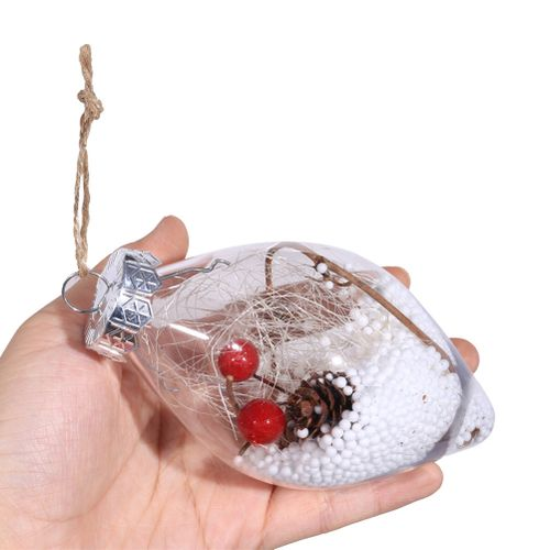Christmas Decoration Novelty Plastic Christmas Tree Hanging Raindrops Decoration Drop Pendant Home Ornament For Christmas Ornament