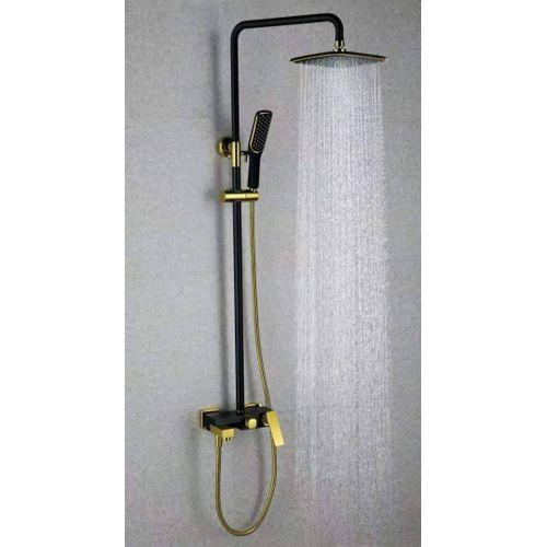 Standing Shower Tap Bathroom Home Hotel Black/Gold