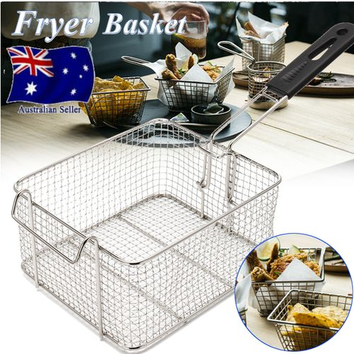 Universal Deep Fryer Basket Commercial Kitchen Chip Fish Food Thick Tube NEW