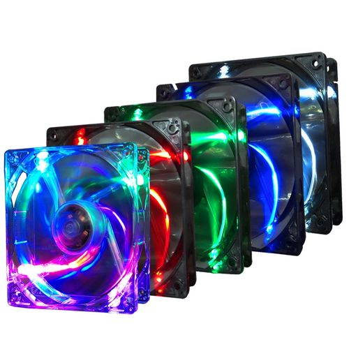 Pccooler F1210 3 Pin 12CM Multiple Colors Colorful LED Computer Case Cooler Cooling Fan