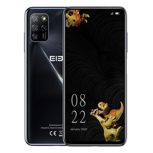 U5 / E6008, 48MP Camera, 4GB+128GB, 4000mAh Battery, 6.4 Inch Android 10 Smartphone - Black