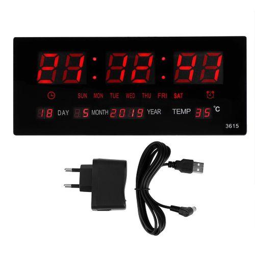 Digital Table Clock LED Electronic Wall Clock For Bedroom Office (EU Plug 110-240V)