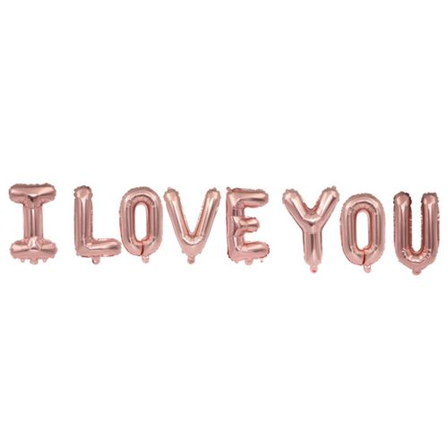Balloons I LOVE YOU 16inch -rose Gold
