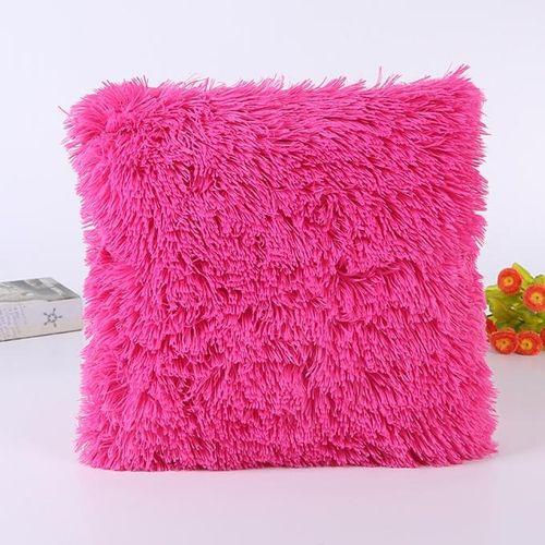 Houseworkhu Pillow Case Sofa Waist Throw Cushion Cover Home Decor -Hot Pink