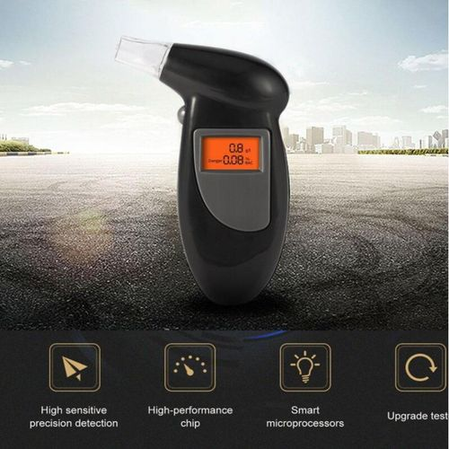 Police Alcohol Tester Breathalyzer Alcohol Detector LCD Display