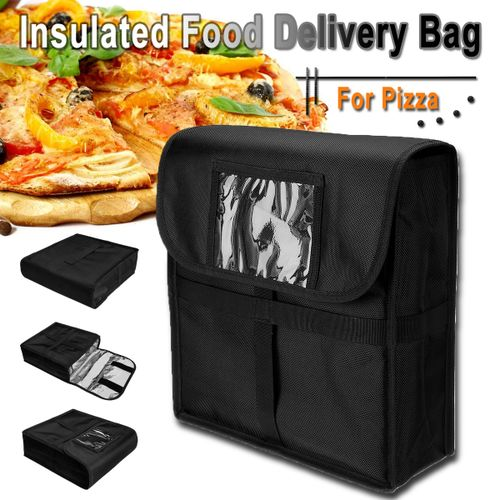"""Insulated Pizza Food Delivery Bag 13.4"""" X 13"""" X 4.3"""" Moisture Free Pizza Boxes"""