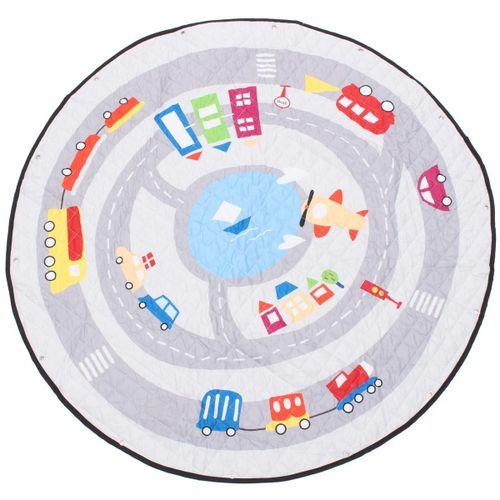 55'' Soft Cotton Round Baby Kids Game Gym Play Mat Crawling Blanket Toys Storage