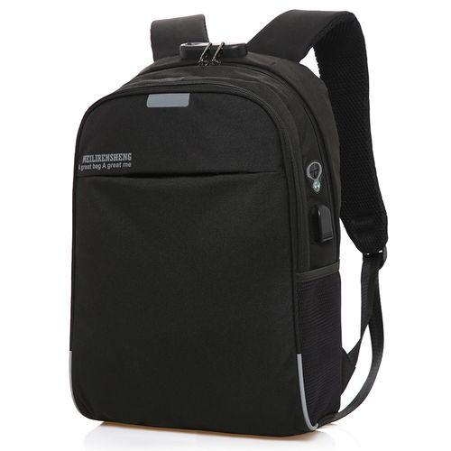 Large Capacity Multifunction Waterproof, USB Charging, Anti-theft Smart Lock Laptop Backpack Bag.