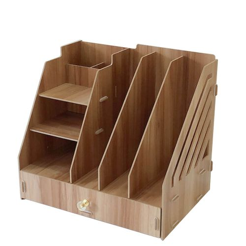 Drawer Type Magazine Book File Stand Organizer File Divider Document Cabinet Rack Office Home Desk Storage Box