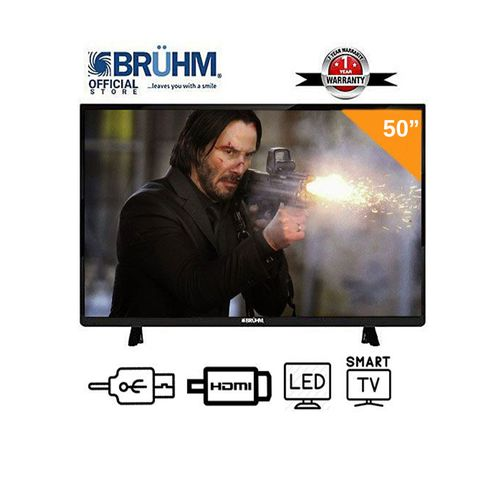 Bruhm 50-Inch Smart 4K UHD LED TV+ Wall Bracket +1 Year Warranty