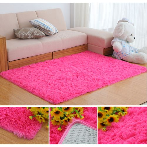 70x140cm Bedroom Living Room Soft Shaggy Anti Slip Carpet Mat