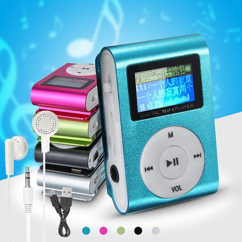 MP3 Player USB Clip 32GB Micro SD Card Slot