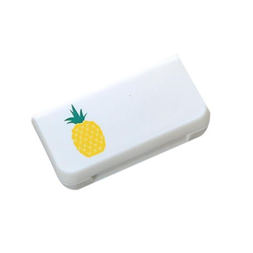 Mini 3 Grids Pill Case Portable Medicine Box Multi-styles Storage Container(Pineapple)