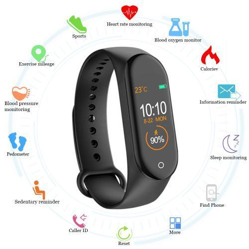 M4 Smart Bracelet Watch Band 4 Fitness Tracker Sport Heart Rate Blood Pressure Smartband Monitor Health Wristband