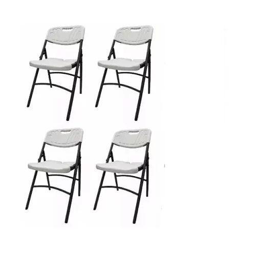 Plastic Folding Chair 4pieces - White