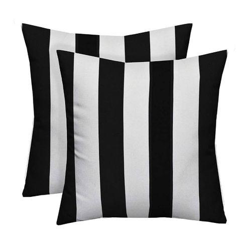 Black N Whitney Throw Pillows-2 Pieces
