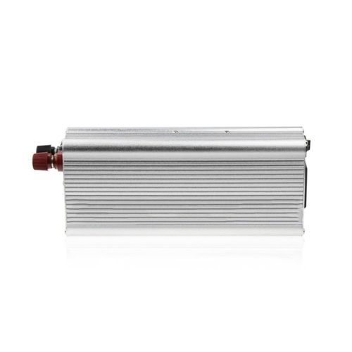 650W Portable Car Power Converter 12V Input Aluminum Alloy Vehicle Inverter Silver
