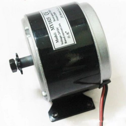 24V 250W High-Speed Brushed DC Motor Electric Scooter Bicycle Black