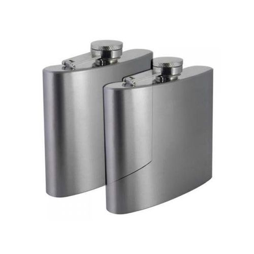 2PC Stainless Steel Unbranded Pocket Whisky Alcohol