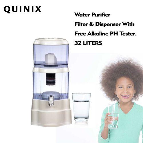 Water Purifier Filter And Dispenser + Akaline PHTester - 32L