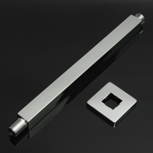 12Inch 30cm Square Chrome Wall Mounted Shower Extension Arm For Rain Shower Head