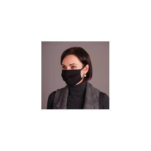 Filter Space Cotton Reusable Face Mask/black