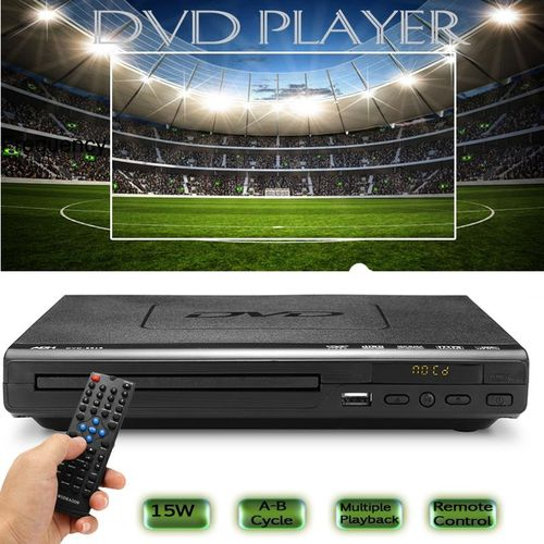 DVD Player Multiple Playback 15W With Remote Controller Multi-angle Viewing USB