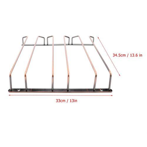 High Quality Useful Under Cabinet Stemware Hanging Wine Glass Rack 34.5cm Iron Home Bar Decor Display