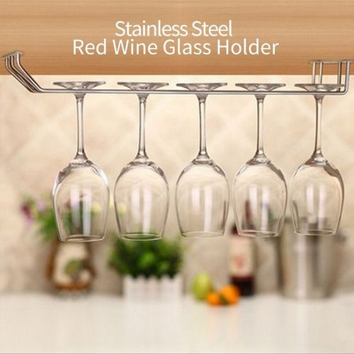 Stainless Steel Red Wine Cup Shelf 2 Row