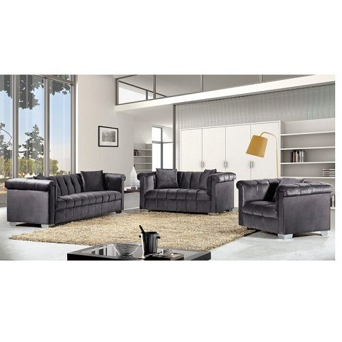 HENRIETTE GREY SOFA SET( FREE DELIVERY WITHIN LAGOS)