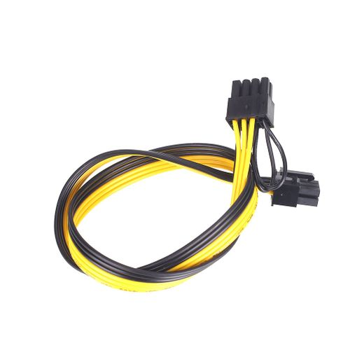 Power Cord Extension Cord 6Pin To 6+2 Pin PCI-E Male-To-Male Mining Machine PSU