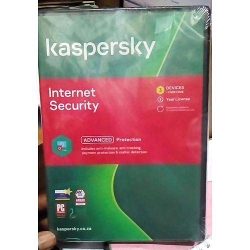 Kaspersky Internet Security 3Devices (+ 1Free User) - 2020 Version