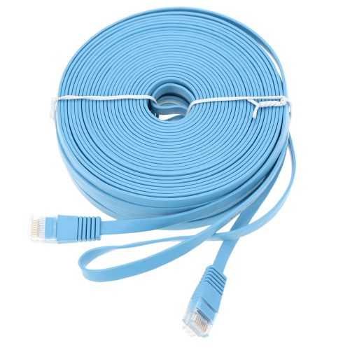 High Quality 3.0m/9.84ft Blue High Speed Cat6 Ethernet Flat