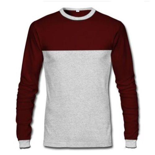 Long Sleeve T-Shirt - Wine & Grey