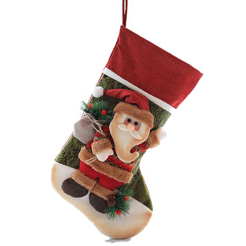 Christmas Stockings Christmas Decorations Gift Bag Santa Claus Snowman Elk Pattern
