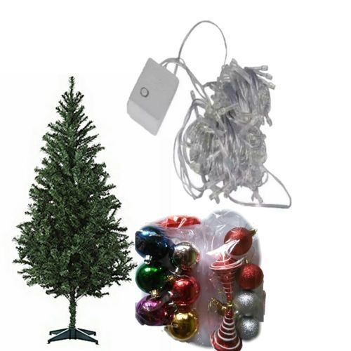 6ft Christmas Tree With Lights And Balls For Decoration