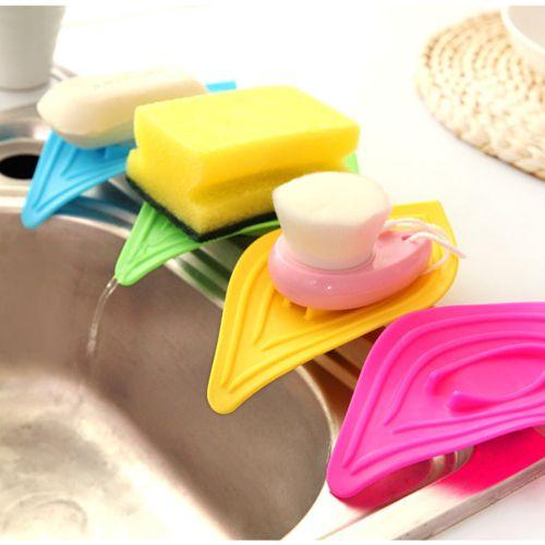 Watermalend Multifunction Sliding Ring Leaves Soap Box Sink And Kitchen Sink Sponge Holder